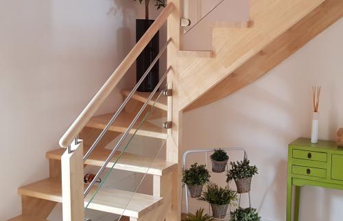 Pose d'un escalier bois à Plabennec 29860