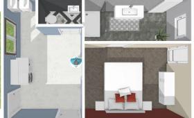 Simulation 3D de l'aménagement du garage pour rénover la maison à Brest 29200